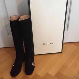 グッチ(Gucci)のGUCCI スウェード ブーツ(ブーツ)