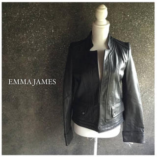 エマジェイム(EMMAJAMES)のEMMA JAMES☆新品ブラックレザージャケット(ライダースジャケット)