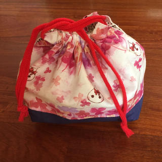 ハンドメイドお弁当袋(ランチボックス巾着)