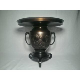 池坊 花器  美術銅器  箱入り(花瓶)
