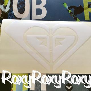 ロキシー(Roxy)のロキシーROXY US限定BIGダイカットwhite ICONステッカーラスト1(アクセサリー)
