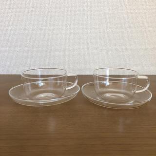 MUJI (無印良品) - 無印良品 ガラス ソーサー カップ