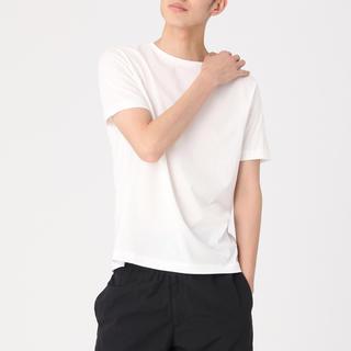 MUJI (無印良品) - 綿クルーネック半袖Tシャツ・ライトウェイト・2枚組 紳士M・オフ白