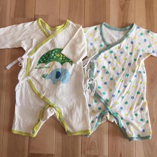 アンパサンド(ampersand)のampersand 肌着 2枚セット 新生児(肌着/下着)