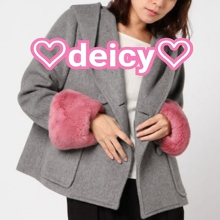 デイシー(deicy)の★限定お値下げ★deicy ファー付きコート(毛皮/ファーコート)