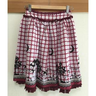 アクシーズファム(axes femme)のアクシーズファム 赤 白 チェック スカート(ひざ丈スカート)