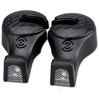 ZooooM 2個セット LED 搭載 ヘッドレスト 用 フック 収納 引っ掛け(車内アクセサリ)