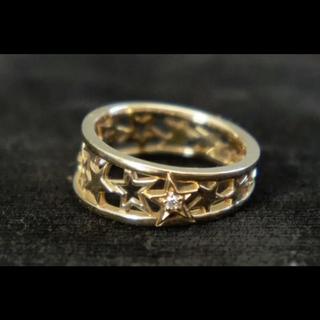 スタージュエリー(STAR JEWELRY)のK10スタージュエリー星のピンキーリング美品(リング(指輪))