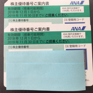 ANA(全日空)株主優待券2枚セット (航空券)