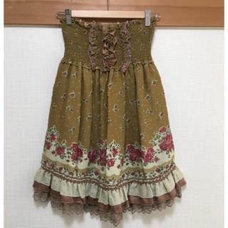 アクシーズファム(axes femme)のアクシーズファム バラ コルセット風 スカート(ひざ丈スカート)