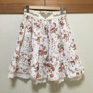 アクシーズファム(axes femme)のアクシーズファム バラ 白 スカート(ひざ丈スカート)