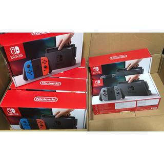 ニンテンドースイッチ(Nintendo Switch)のニンテンドースイッチ 本体 ネオンカラー グレー  計7台 新品未開封(家庭用ゲーム本体)