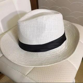 春に向けて❗️麦わら帽子 ハットホワイト(麦わら帽子/ストローハット)