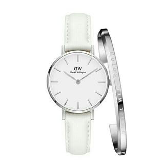 ダニエルウェリントン(Daniel Wellington)の【ホワイト32MM】  ダニエルウェリントン 腕時計 シルバー バングル セット(腕時計)