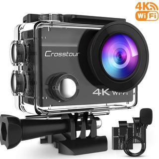 新品 Crosstour アクションカメラ 4K 1600万画 WiFi 水中