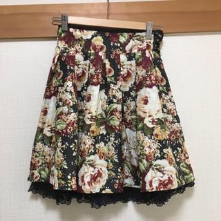 アクシーズファム(axes femme)のアクシーズファム バラ ブラック スカート(ひざ丈スカート)