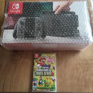 ニンテンドースイッチ(Nintendo Switch)のNintendo Switch本体&NewスーパーマリオブラザーズUデラックス(家庭用ゲーム本体)