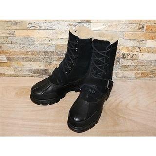 ポロラルフローレン(POLO RALPH LAUREN)の美品 ラルフローレン シープボア マウンテンブーツ 黒 26,527cm(ブーツ)
