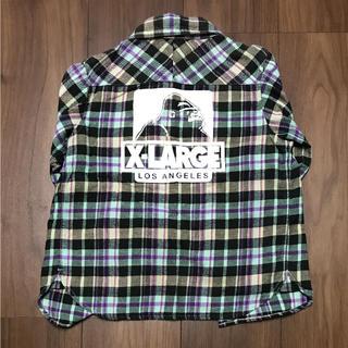 エクストララージ(XLARGE)のXLARGE KIDS長袖ネルシャツ★5T(Tシャツ/カットソー)