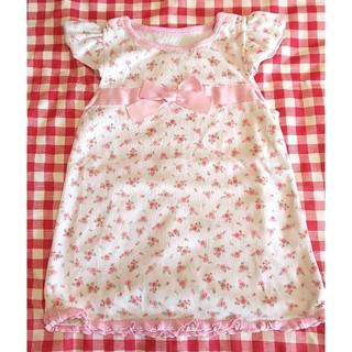 ニシキベビー(Nishiki Baby)のスイートガールピンク 小花柄ワンピース 80cm (株)ニシキ チャックルベビー(ワンピース)