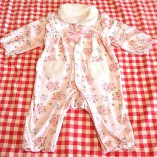 ニシキベビー(Nishiki Baby)のピンク花柄ロンパース 80cm スイートガール Sweet girl ニシキ(ロンパース)
