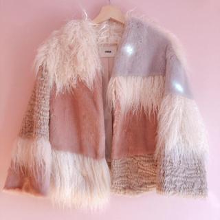 ファーファー(fur fur)のFURFUR エコファー パッチワーク ボレロ(毛皮/ファーコート)
