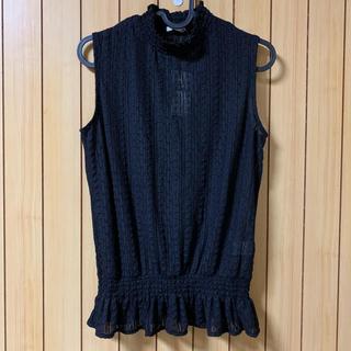ジーユー(GU)のGU ジーユー レーススリーブレスT(カットソー(半袖/袖なし))
