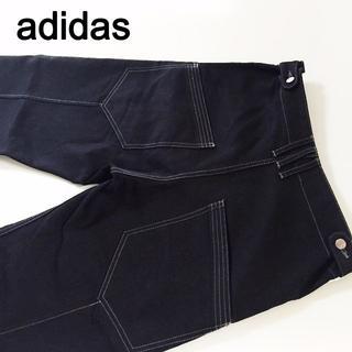 アディダス(adidas)のアディダス ルーズフィットブラックパンツ☆サイズM約76cm(デニム/ジーンズ)