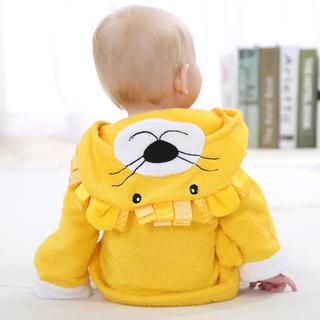 ラスト1点 ベビーバスローブ 新生児 赤ちゃん ライオン(バスローブ)