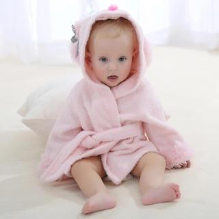 ラスト1点 ベビーバスローブ うさぎ 新生児 赤ちゃん(バスローブ)