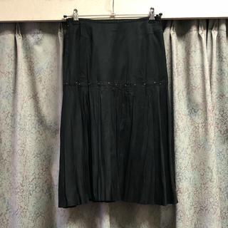アールユー(RU)の美品♡ RU ピーチスキン スカート スウェード 黒 ブラック(ひざ丈スカート)