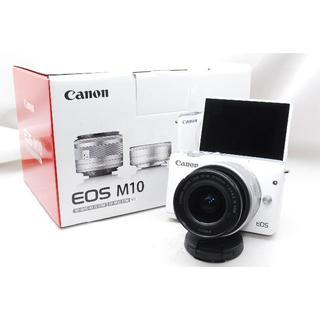 Canon - ♡WiFi&自撮り&大人気♡Canon EOS M10 レンズキットホワイト