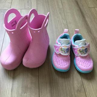 クロックス(crocs)のピンク色 ブーツ♡スニーカー(ブーツ)