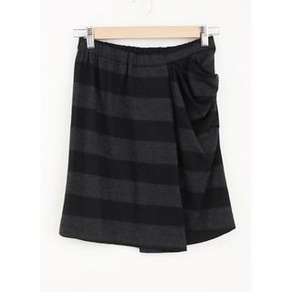 チャラヤン(CHALAYAN)のchalayan チャラヤン ボーダー柄 ウール ミニスカート サイズS(ミニスカート)