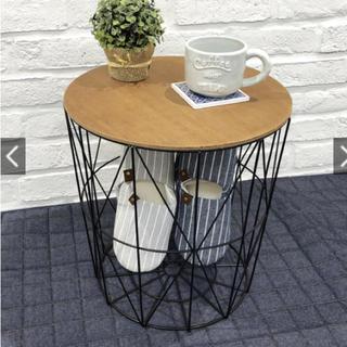 アイアン サイドテーブル  ラウンド インテリア 雑貨 収納(コーヒーテーブル/サイドテーブル)