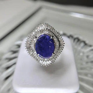 Pt900 ブラックオパール リング 指輪 メレダイヤ 18-4303(リング(指輪))