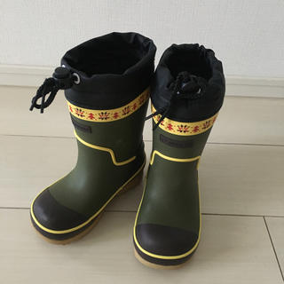 ムーンスター(MOONSTAR )の美品 ムースター ラバーブーツ 長靴 16cm(長靴/レインシューズ)