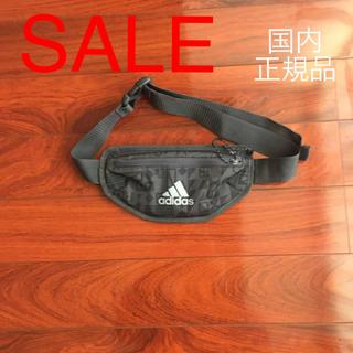 アディダス(adidas)のadidas ランニング グラフィック ウエストバッグ BR7885 ブラック(ウエストポーチ)