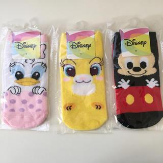 ディズニー(Disney)の☆新品☆ディズニー のびのびソックス 3点セット(靴下/タイツ)
