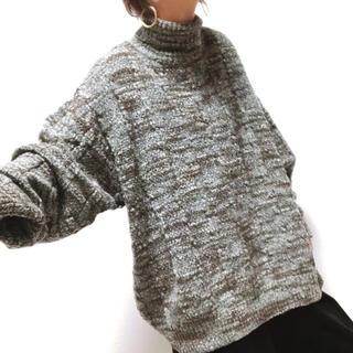 タケオキクチ(TAKEO KIKUCHI)の[古着]タートル 総柄ニットオーバーシルエット TK(ニット/セーター)