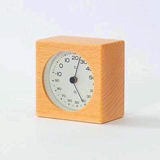 MUJI (無印良品) - 【新品】MUJI ブナ材温湿度計