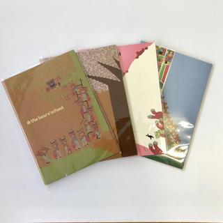 クマノガッコウ(くまのがっこう)の新品☆くまのがっこう クラフトノート 4冊セット(ノート/メモ帳/ふせん)