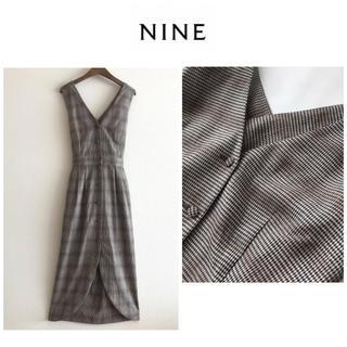 ナイン(NINE)のNINE☆ナイン★ロング   千鳥  ジャンパースカート(ロングワンピース/マキシワンピース)