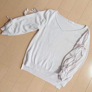 ウィルセレクション(WILLSELECTION)のウィルセレクション♡お袖おリボンニット(ニット/セーター)