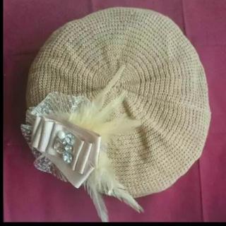 アンドエー(And A)のand a 麦わらベレー帽(ハンチング/ベレー帽)