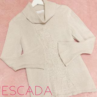 エスカーダ(ESCADA)のエスカーダ シルク カシミヤ ウール タートル ニット セーター ベージュ(ニット/セーター)