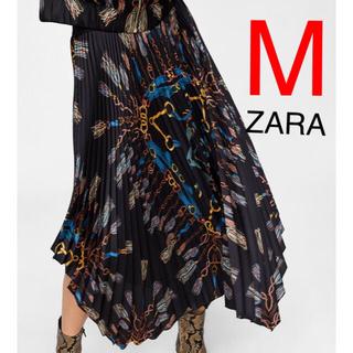 ザラ(ZARA)のZARA  アシンメトリー プリーツスカート(ロングスカート)