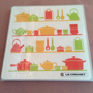 ルクルーゼ(LE CREUSET)の新品 未開封 ル クーゼ ガラス プレート(収納/キッチン雑貨)