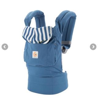 エルゴベビー(Ergobaby)のエルゴベビー オリジナル ブルー ストライプ  ビーチハウス(抱っこひも/おんぶひも)