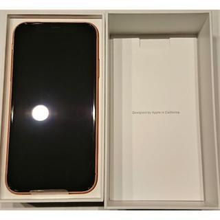 アップル(Apple)の新品未使用 SIMフリー iPhoneXR 128GB CORAL コーラル(スマートフォン本体)